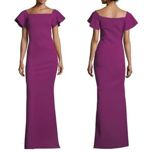 Chiara Boni Anselma Off the Shoulder Gown Purple